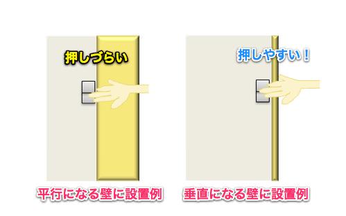 和室の照明スイッチの解決例